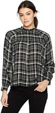 Lucky BRAND Womens Plaid Knit Blouse US Size M