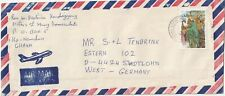 1988 Ghana oversize cover sent from Kotoka Airport to Stadtlohn Germany