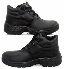 Blackrock Black Leather Work Safety Chukka BOOTS With Steel Toe Caps and Midsole