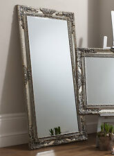 "Hampshire Large Decorative Silver Full Length Leaner Wall Floor Mirror 67"" X 33"""