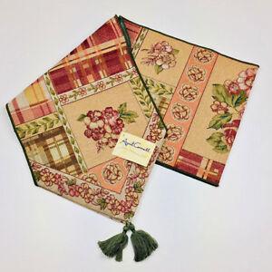 "Coventry Floral Roses 72"" Tapestry Table Runner ~ Artist, April Cornell"