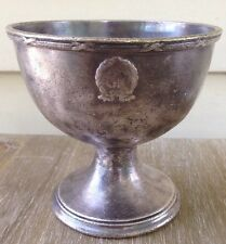 Vintage GORHAM solid CHALICE ? CUP hammered / Anchore logo E P Silver Soldered