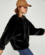 BNWT $119 Zara Women Textured Jacket with Bejewelled Collar 8073/232 Rare S