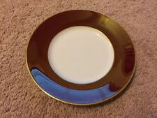 Jaune De Chrome Plate Limoges China NWT Porcelain Red Tango & Gold 8""