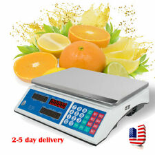 Digital 30Kg/66lbs Meat Food Computing Retail Price Scale 66Lb Fruit Counting