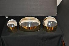 Set Of 3 Jonathan Adler Globo Box Brass & Clear Lucite Large Medium Small