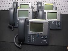 LOT of 5 Cisco CP-7942G 7942 IP VoIP Office Phone w/ Handset *Working & Tested*
