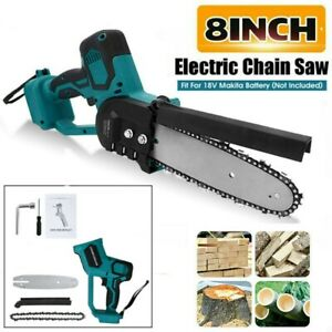 8'' 8 inch Cordless Electric Chainsaw Rechargeable Wood Cutter Saw Woodworking