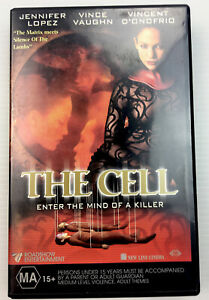 The Cell Enter the Mind of a Killer VHS video tape Jennifer Lopez Vince Vaughn