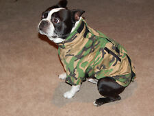 New listing Comfy Coat Camo Camouflage Size 18 Dog Coat Boston Terrier Size