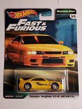 Hot Wheels Nissan Skyline GTR R33 Yellow Fast and Furious GBW75-956B 1/64