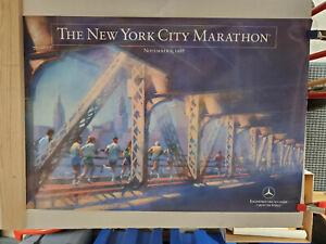 1988 New York City Marathon poster RARE! Mint Condition Mercedes-Benz Sponsor