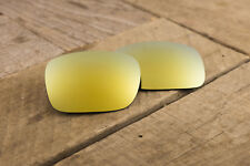 24k Yellow Gold Polarized Mirrored Lenses for Oakley Jupiter Squared - Grey Tint