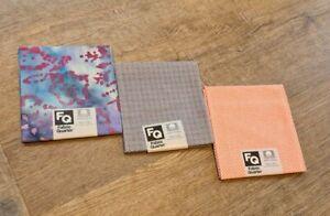 Fat Quarters Fabric x3 - Cotton - Lot 1 - Mixed Prints