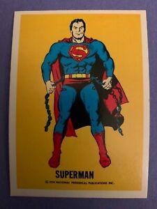 1974 SUPERMAN Wonder Bread National Periodical Publications DC Comics Card NM