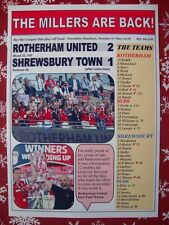 Rotherham 2 Shrewsbury 1 - 2018 League One play-off final - souvenir print