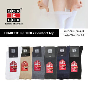 SOX & LOX - Men's & Women's Diabetic Friendly Comfort Top Crew Socks [KOREA]