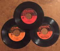 "3 Atlantic 45 RPM 7"" Vinyl Aretha Franklin Respect The Spinners *SEE DESCRIPTION"