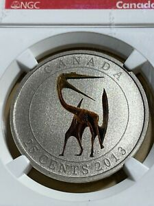 2013 Canada 25 Cents Quetzalcoatlus Glow in the Dark Graded SP69 by NGC!!