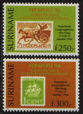 Surinam / Suriname 1994 FEPAPOST postkoets mail-coach timbre sur timbre MNH