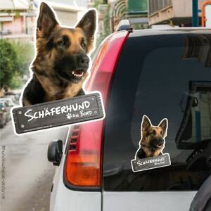 Deutscher Schäferhund an Bord Autoaufkleber 10cm Hundeaufkleber wetterfest 0852