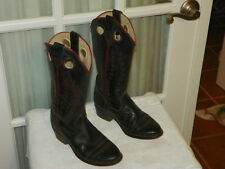 TEXAS Brand Black Cowboy Boots Youth Size 3.5 D Style 3900 Made in USA