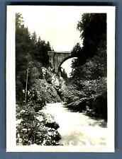 France, Pont du Diable en dessus du Bon Mont  Vintage silver print. Tirage arg
