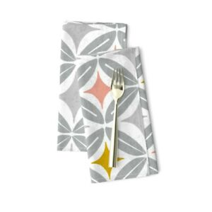 Geometric Geo Midcentury Modern Mid Cotton Dinner Napkins by Roostery Set of 2