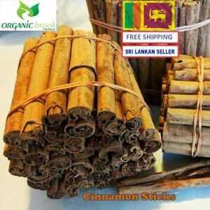100% Ceylon Pure ALBA Cinnamon 50g Sticks Organic Sri Lankan Finest Herb Quality