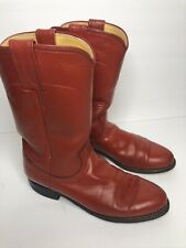 Women's Red Justin Roper Western Cowboy Boots Size 6.5 B Leather USA 3005