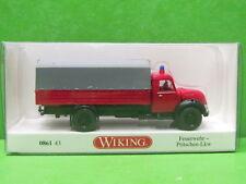 1:87 Wiking 086143 Feuerwehr - Pritschen-Lkw (Magirus) Blitzversand DHL-Paket