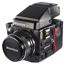 Mamiya M645 Super with Sekor C 80mm f2.8 120 Film Back AE Prism Finder N Crank