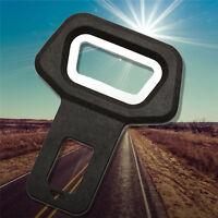 2 Pc Car Vehicle Safety Seat Belt Buckle Insert Warning Alarm Stopper;
