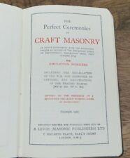 1965 PERFECT CEREMONIES OF CRAFT MASONRY MASONIC POCKET BOOK (56)