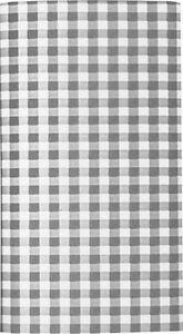 Mitteldecke Vichy Karo Design Grau, 80 x 80 cm aus Airlaid, Centre table cover