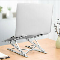 Portable Aluminum Laptop Stand Height Adjustable Cooling Holder Foldable Macbook