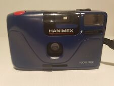 Hanimex Gold vision 1 camera built-in flash  case 35mm film Focus free blue