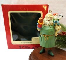 Carlton Cards Ornament 1989 In The Workshop Santa with puppets Gilmore Designs