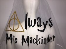 Personalised Veil Harry Potter Inspired  Hen Party Deathly Hallows Always