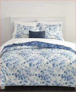 Ralph Lauren Arrabelle Floral 3P king comforter Shams Set Blue White