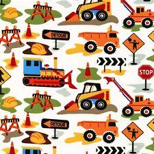 Michael Miller Dig impresión de ti 100% algodón construcción DIGERS carretera signos