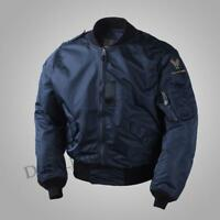 Military Fall Nylon Coat XL USAF Army Mens Polit L2A Flight Bomber Jacket Loose