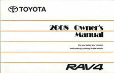2008 Toyota Rav4 Owners Manual User Guide Reference Operator Book