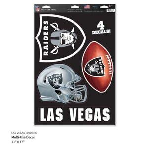 Las Vegas Raiders 4 Adesivo Decalcomania Badges Set NFL Calcio Nuovo