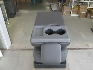 2017 - 2020 FORD F250 F350 F450 SD CENTER CONSOLE JUMP SEAT CHARCOAL GRAY CLOTH
