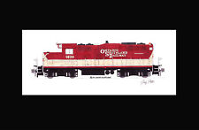 """Ontario Southland GP9 #1620 11""""x17"""" Matted Print Andy Fletcher signed"""
