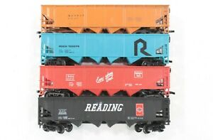 HO Four 40ft Quad Hoppers, Various Railroads and Brands Very Good Condtion