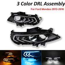 For Ford Fusion 13-16 LED DayTime Running  Fog Driving Light Replacement 3 Color