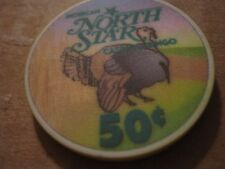 Vintage North Star Casino and Bingo Turkey Graphic Bowler WI $.50 Casino Chip