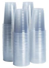 100x Clear Plastic Disposable Cups Drinking Glasses 7oz Cups For Cold Drinks